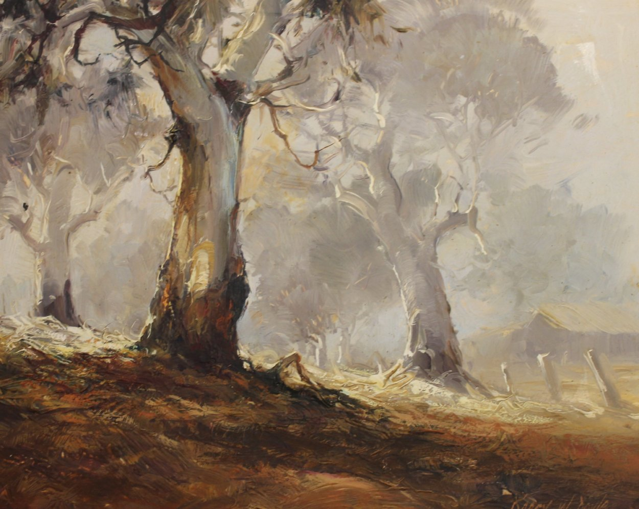Ghost Gums 1972 15x12 Original Painting by d'Arcy Doyle