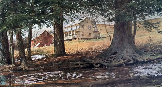 Ruffled Waters Embellished 1981 Limited Edition Print by David Armstrong