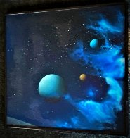 Galactic Fragment 1984 14x14 Original Painting by Dave Archer - 1