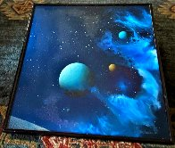 Galactic Fragment 1984 14x14 Original Painting by Dave Archer - 2