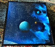 Galactic Fragment 1984 14x14 Original Painting by Dave Archer - 5