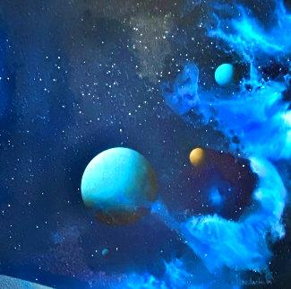 Galactic Fragment 1984 14x14 Original Painting - Dave Archer