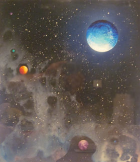 Cosmic Detail 1979 18x20 Original Painting - Dave Archer