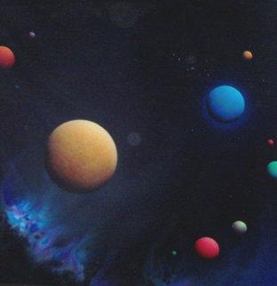 Diamond Veil 1987 48x48 Super Huge Original Painting - Dave Archer
