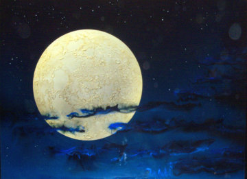 Full Moon 1993 36x48 Huge Original Painting - Dave Archer