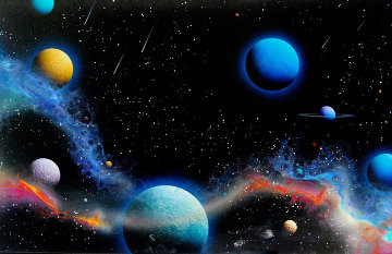 Comet Showers 1989 20x30 Original Painting - Dave Archer