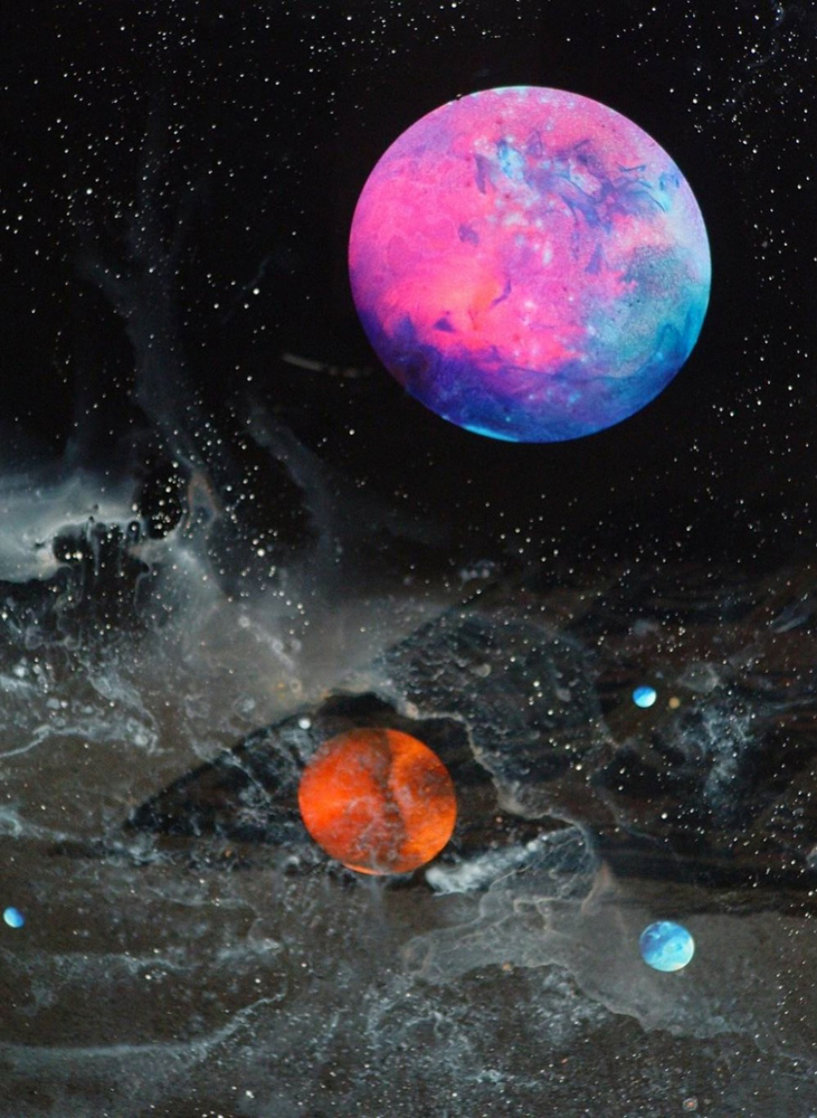 Cosmic Detail 1976 26x24 Original Painting by Dave Archer