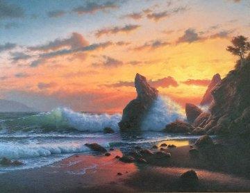 Twilight 1984 31x55 Huge Original Painting - David Dalton