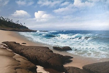 South Wind, La Jolla 33x45 Super Huge Original Painting - David Dalton