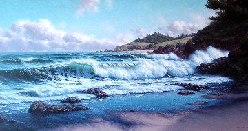 Cambria Cove 1984 42x78 Original Painting - David Dalton