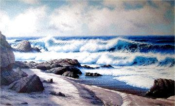 Palos Verdes Coast 1982 40x58 Huge Original Painting - David Dalton