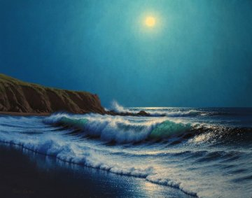 Moonstone Beach 2012 24x30 Original Painting - David Dalton
