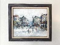 Untitled European Cityscape 25x30 Original Painting by Randall Davey - 1
