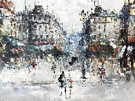 Untitled European Cityscape 25x30 Original Painting by Randall Davey - 0