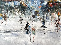 Untitled European Cityscape 25x30 Original Painting by Randall Davey - 2