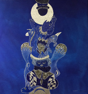 Voyage Avec La Lune 2019 39x39 Original Painting by David Farsi