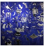 Composition Bleu Argent 2019 90x90 Super Huge Original Painting by David Farsi - 1