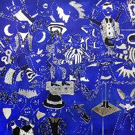 Composition Bleu Argent 2019 90x90 Super Huge Original Painting by David Farsi - 0