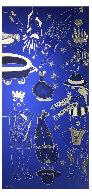 Composition Bleu Argent 3 2019 39x90 Super Huge Original Painting by David Farsi - 1