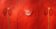 Concerto Pour Un Chat Touge Triptych 2004 63x121 Mural Super Huge Original Painting by David Farsi - 0