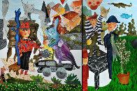 Le Petit Magicien 2012 98x70 Super Huge Original Painting by David Farsi - 0