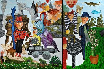 Le Petit Magicien 2012 98x70 Huge Original Painting - David Farsi