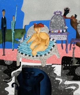 De Douceurs En Douceurs 2009 70x66 Original Painting - David Farsi
