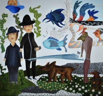Balade Dans Les Reves 2013 70x74 Original Painting - David Farsi
