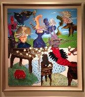 L'Ete 2011 60x55 Huge Original Painting by David Farsi - 1