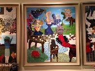 L'Ete 2011 60x55 Huge Original Painting by David Farsi - 2