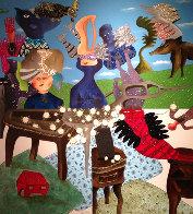 L'Ete 2011 60x55 Huge Original Painting by David Farsi - 0