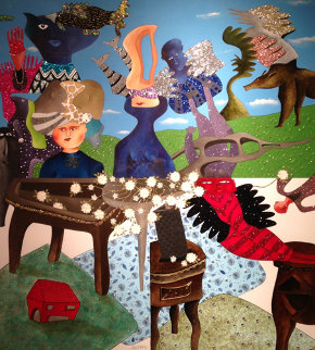 L'Ete 2011 60x55 Huge Original Painting - David Farsi