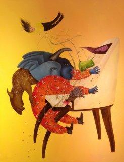 Histoire De Chaise 2 2014 59x44 Original Painting by David Farsi