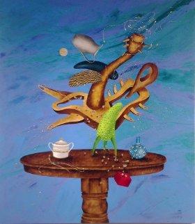 Musique En Colere  2015 57x50  Original Painting by David Farsi