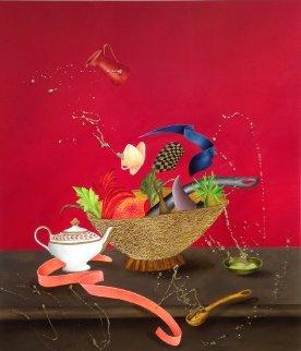 Corbeille De Fruits 2015 58x51 Super Huge Original Painting - David Farsi