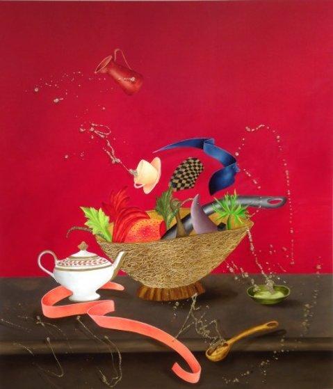 Corbeille De Fruits 2015 58x51 Original Painting by David Farsi