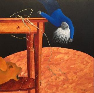 Musique 2016 38x38 Original Painting by David Farsi