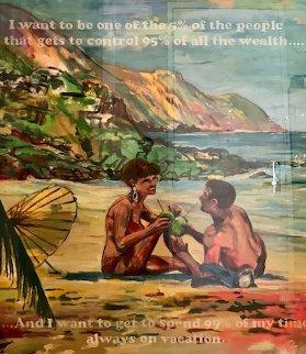 99% 59x51  Super Huge Original Painting - David Kramer