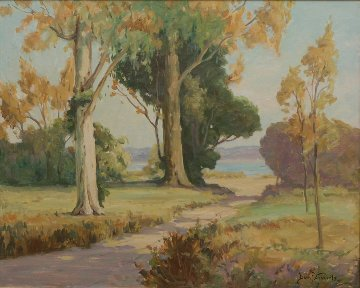 San Rafael 1940 33x39 California Original Painting - Davis Francis Schwartz