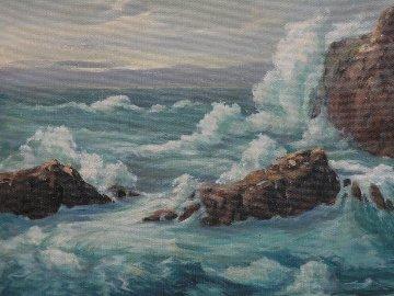 La Jolla Brakers 1955 33x37 Original Painting - Davis Francis Schwartz
