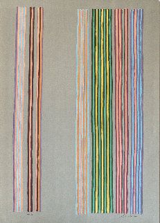 Royal Curtain 1980 Limited Edition Print by Gene Davis