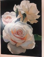 Three Fragrant Delight Roses 1999 Limited Edition Print by Brian Davis - 1