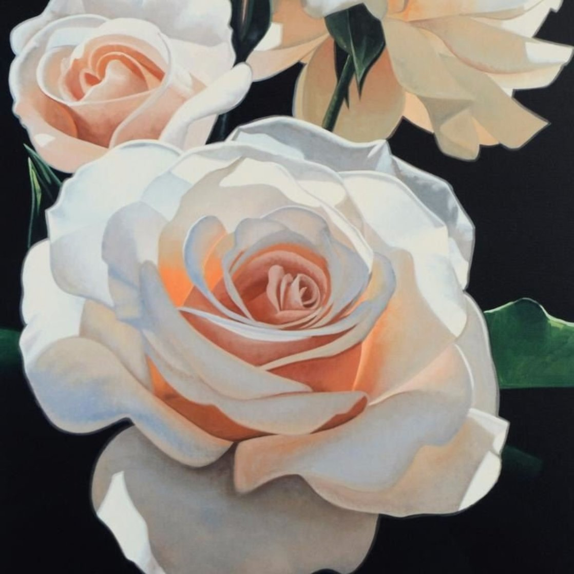 Three Fragrant Delight Roses 1999 Limited Edition Print by Brian Davis
