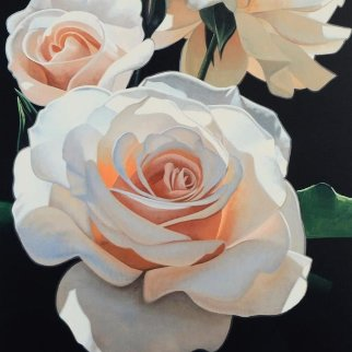 Three Fragrant Delight Roses 1999 Limited Edition Print - Brian Davis