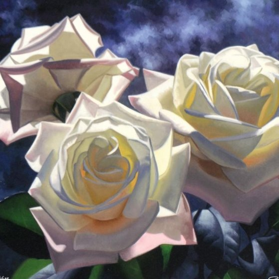 Yellow Roses 1996 Limited Edition Print by Brian Davis