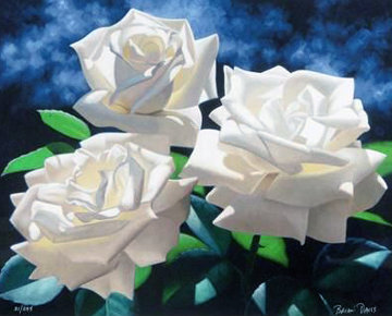 White Roses Limited Edition Print - Brian Davis