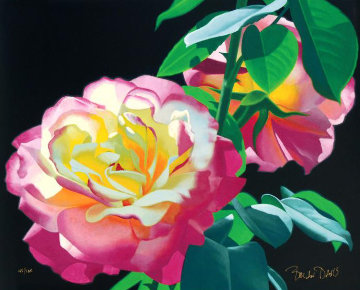 Roses in the Leaves 2000 Limited Edition Print by Brian Davis