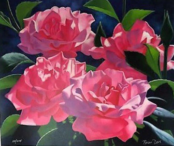 Pink Roses 1996 Limited Edition Print by Brian Davis