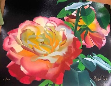 Rose in the Leaves 2000 Limited Edition Print by Brian Davis