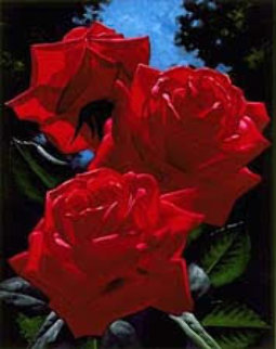 Magenta Roses 1996 Limited Edition Print by Brian Davis